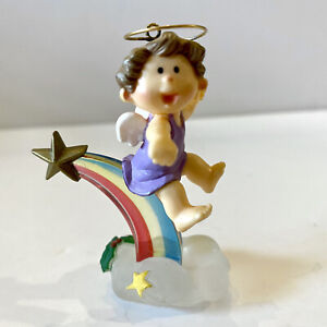 1983 Rainbow Angel Baby Vintage Hallmark Keepsake Christmas Ornament QX416-7