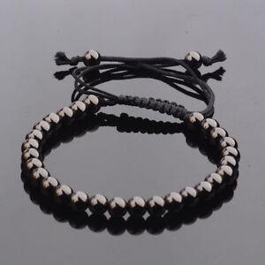 Fashion-Mens-Bracelet-24kt-Gold-Plated-Micro-Pave-Zircon-Macrame-Bracelets-6MM