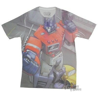 Transformers Optimus Prime Stance Autobot Sublimation Licensed Adult Shirt S-XXL