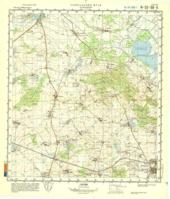 Russian Soviet Military Topographic Maps - STRASBURG (Germany), 1:50 ...