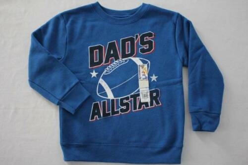 NEW Toddler Boys Fleece Sweatshirt Size 3T Dad All Star Football Long Sleeve Top