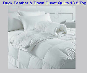 Image Is Loading Duck Feather Amp Down Duvet Quilts 13 5