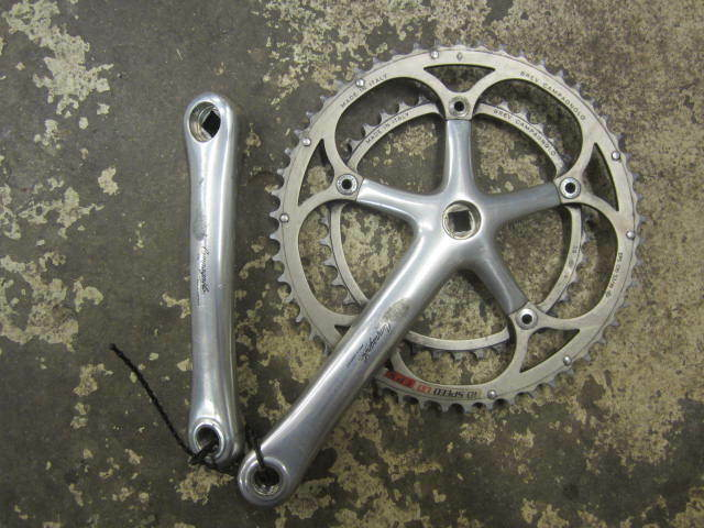 Campognolo Record  cranks and chainrings.  excellent prices