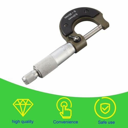 Outside External Metric Gauge Micrometer Machinist Measuring 0-25mm MT
