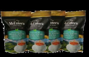 McEntee's ORGANIC SENCHA GREEN Tea – Value Pack 4 X 150g Bags -From Ireland