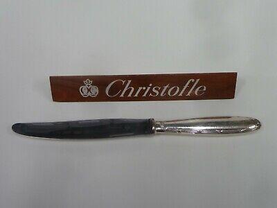 CHRISTOFLE CLUNY COUTEAU DE TABLE lame TREFFLE t:24.50cm état correct
