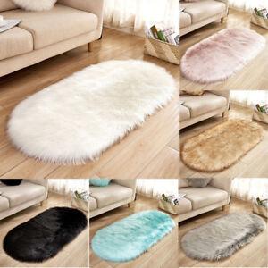 Image Is Loading Uk Faux Fur Fluffy Sheepskin Rug Balcony Oval