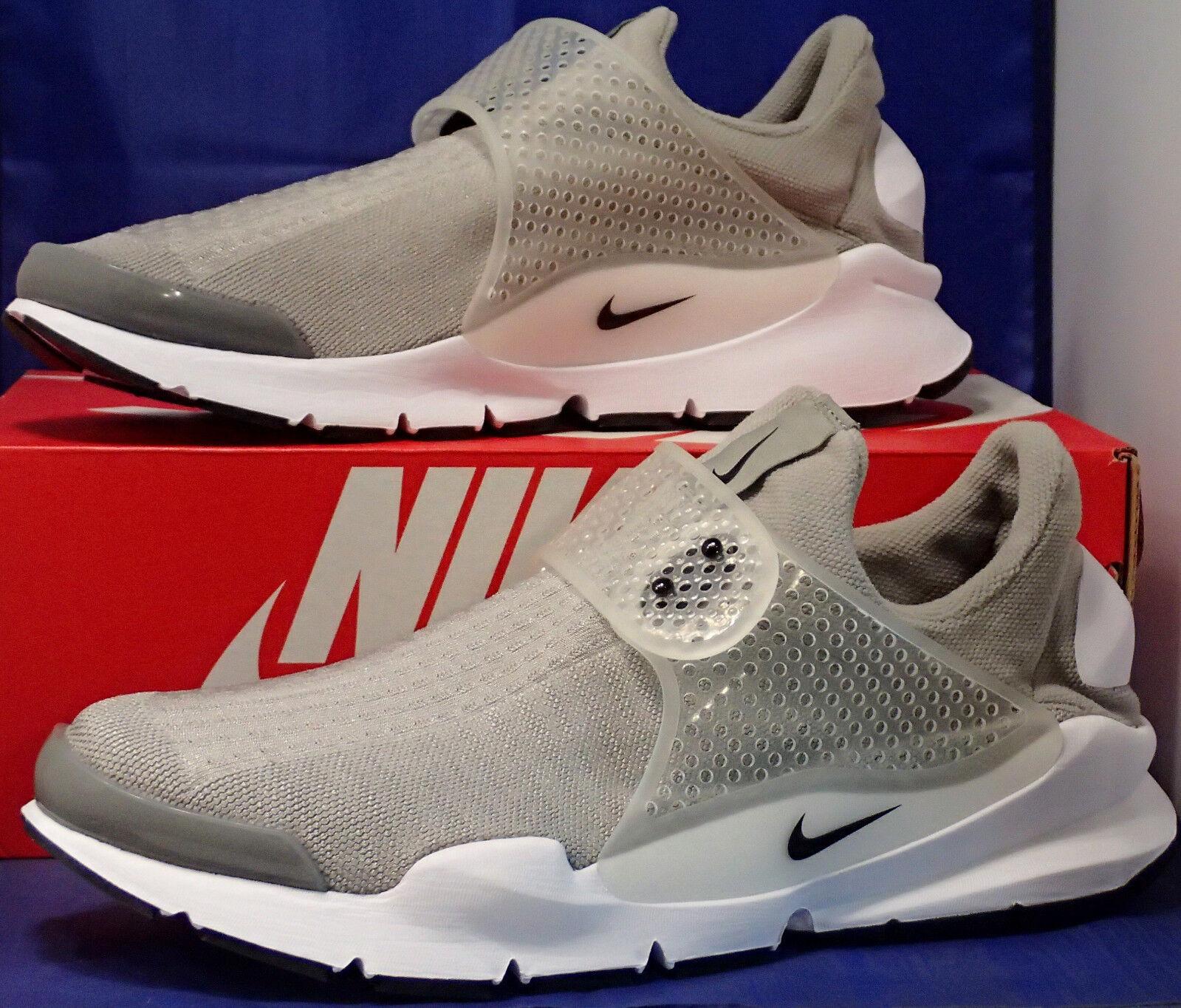 Nike Sock Dart Medium Grey Black Black Black White SZ 12 ( 819686-002 ) 0383a4