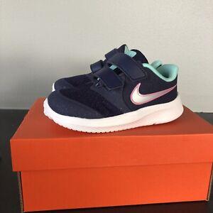 Girl-039-s-Nike-Shoes-Star-Runner-2-TDV-size-7C-Dark-Purple-Green-Gray-Pink-New