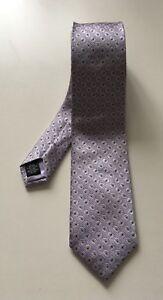 HARDY-AMIES-Light-Purple-Paisley-Tie-7-5cm-Width-100-Silk-Made-in-Italy