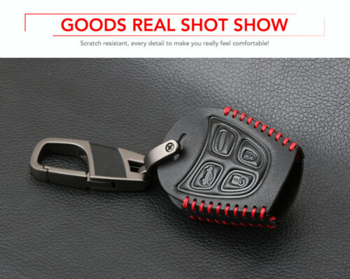 Genuine Leather Car Key Case Car Styling 4 Button Key Fob Shell Cover SAAB 93