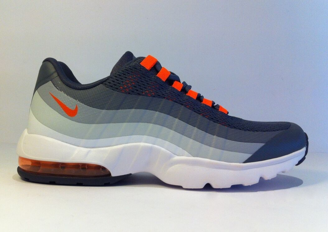 NIKE 'Air Max 95 Ultra' Dark  Gris -Total Orange WMN Sneakers US7 NEW [749212-001]