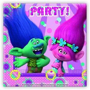 Immagini Compleanno Bimbi.20 Tovaglioli Trolls Party Palloncini Feste Compleanno Bimbi Festa