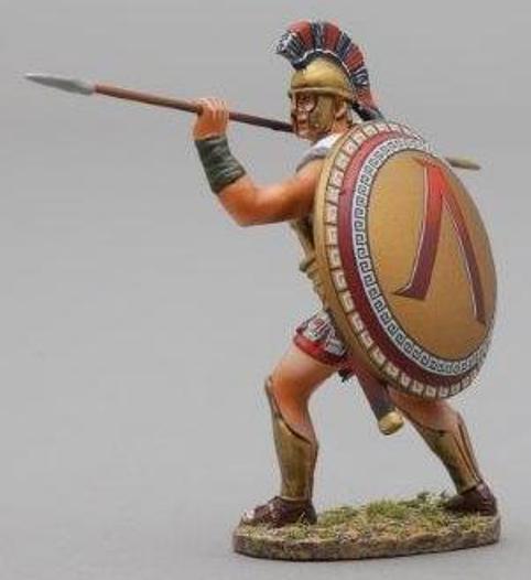 Thomas Gunn Antik GREEKS & Persians spa010a Spartan Thrusting mit Speer MIB