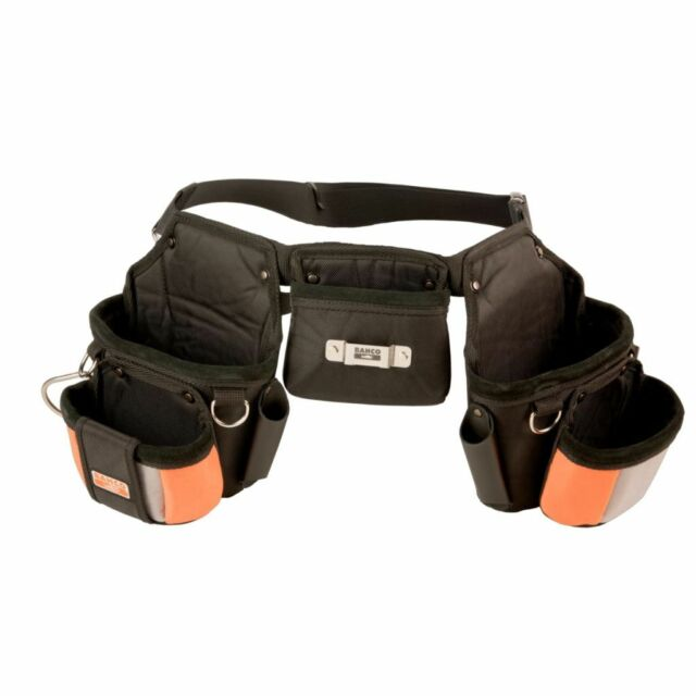 BAHCO Cinturón Herramientas Negro Bolsillo Organizador Bolsa Taller Bricolaje