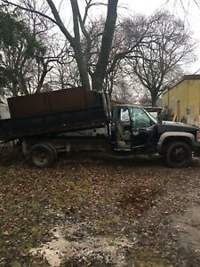 1997 gmc 3500 dump truck.  (Can drive with regular licence)