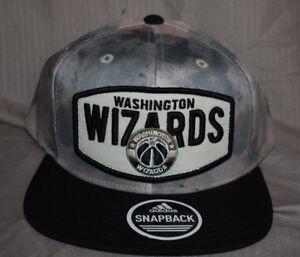 3c33c285cc Image is loading Mens-adidas-NBA-Washington-Wizards-Snapback-Hat-Cap-