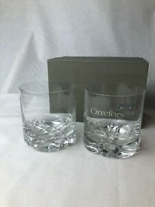 Set-of-Two-Vintage-Orrefors-Crystal-Tumblers