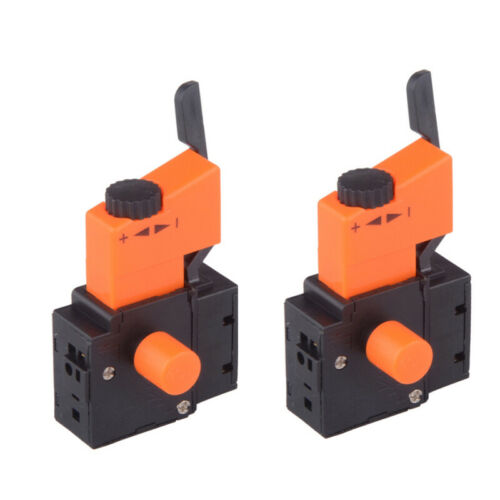 2x 250V 8A Lock on Power Tool Electric Hand Drill Speed Control Trigger Switch