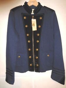 Supply 190232674558 S Revel Ralph Nouveau Jacket Denim Officier Lauren Velvet Militaire Navy qxwE7Pgw