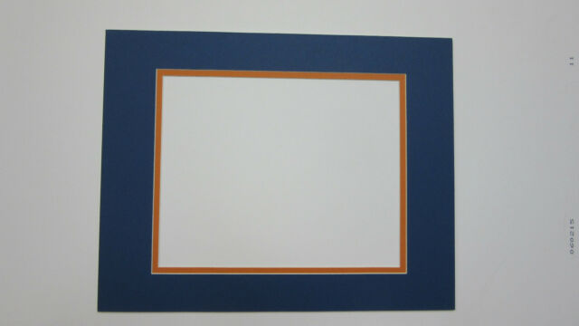 Picture Framing Mat Blue With Orange 16x20 for 11x17 Photo Custom ...