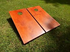 Regulation Gunstock Stained Cornhole Boards With Bags