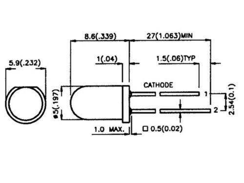 LED RVB ROUGE VERT BLEU CLIGNOTANTE DE 5 mm AVEC PROGRAMME INTEGRE LOT DE 10
