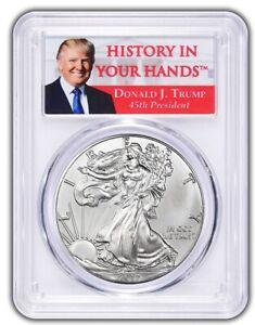 2017-1oz-Silver-Eagle-PCGS-MS70-Donald-Trump-Label