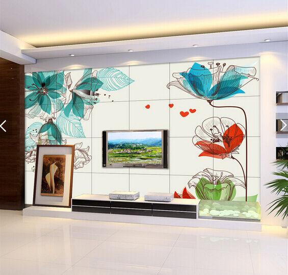3D greene Blätter Lotus 765 Fototapeten Wandbild Fototapete BildTapete Familie DE