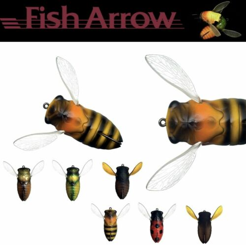 FISH ARROW TOPWATER WEEDLES BASS LURE COVER CICADA 4.5cm//7g