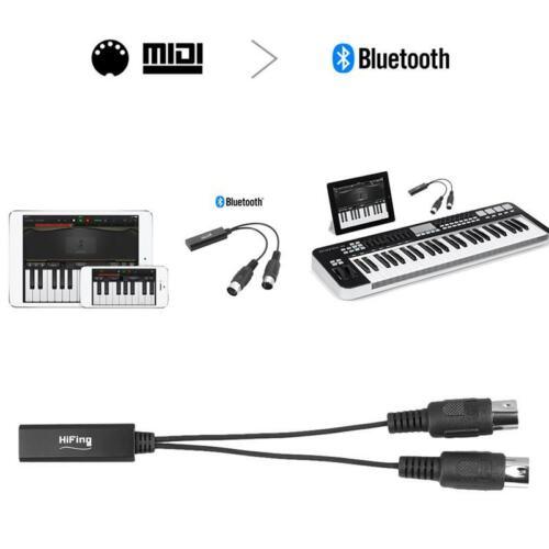 HiFing Drahtloser Bluetooth Midi Adapter Bluetooth 4.0 5 Pin Din Midi O9T6