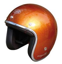 Casque casco helmet jet TORX WYATT orange Taille M 57 58 CAFE RACER