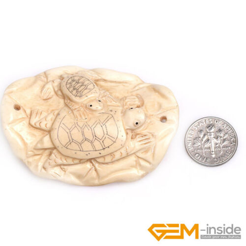 Assorted Carved Cabochon Bone Antique Shapes Pendant Beads For Jewelry Making