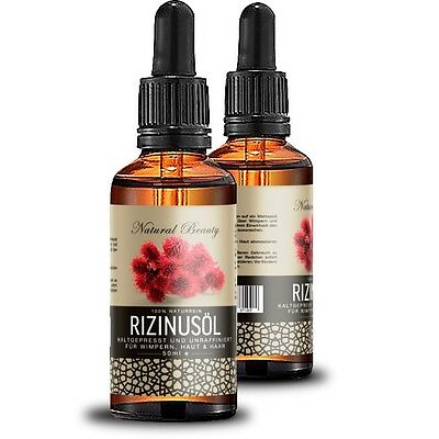 Rizinusöl für lange dichte Wimpern  Augenbrauen, Haar & Haut  Rizinus Castor .