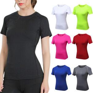 Women-Short-Sleeve-Sports-Running-Tops-Gym-Yoga-Jogging-Fitness-Workout-T-Shirt