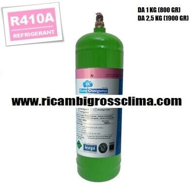 NETTO GR.800 GAS REFRIGERANTE R410A BOMBOLA DA KG.1