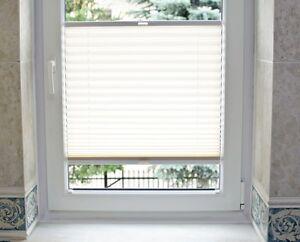 Plissee Faltrollo auf Maß für alle Fenster Montage im Glasfalz TOP ANGEBOT