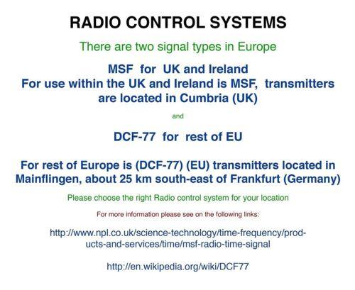 versione UK Indoor//Outdoor Stazione Meteo con Orologio da MSF radiocomando