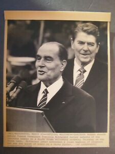 AP-Wire-Press-Photo-1984-French-Pres-Francois-Mitterrand-Official-Welcome-Reagan
