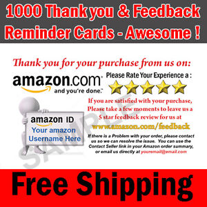 1000 amazon seller professional thank you business cards 5 star image is loading 1000 amazon seller professional thank you business cards colourmoves