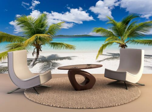 Wall Mural Palm Tree Tropical Island 3D Wall Home Decor Removable Mural Print