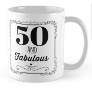 Image Is Loading 50 50th Birthday Small Gift Idea Mug Mugs