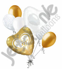 7 pc Happy 50th Anniversary Balloon Decoration Party Married Party Wedding