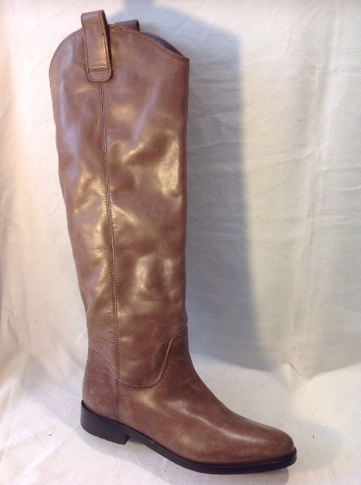 Bronx marron Knee High Leather bottes Taille 39
