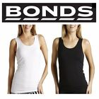 WOMENS BONDS BLACK STRETCH CHESTY SINGLET TOP TEE UNDERWEAR SIZE 10 12 14 16