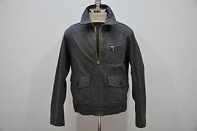 Ralph Lauren RRL Spring 1 100% Cotton Herringbone Short Bomber Jacket