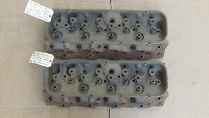 Details about 346236 Matched Date Pair BBC Oval Port 402 454 Cylinder Heads