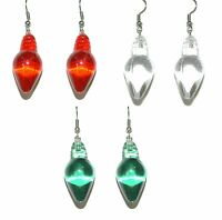 Acrylic Christmas Light Dangle Earrings - 3 Colors