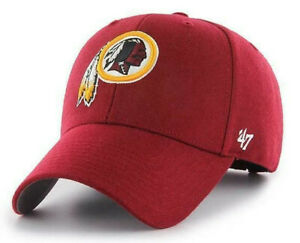 WASHINGTON REDSKINS NFL 47 BRAND MVP BURGUNDY STRAPBACK HAT CAP NEW RETIRED LOGO