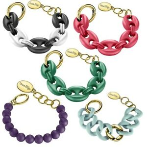 THINK-BIG-Jewels-Bracciale-Donna-Gomma-Silicone-Acciaio-Colorato-Nuovo-Affare-DD
